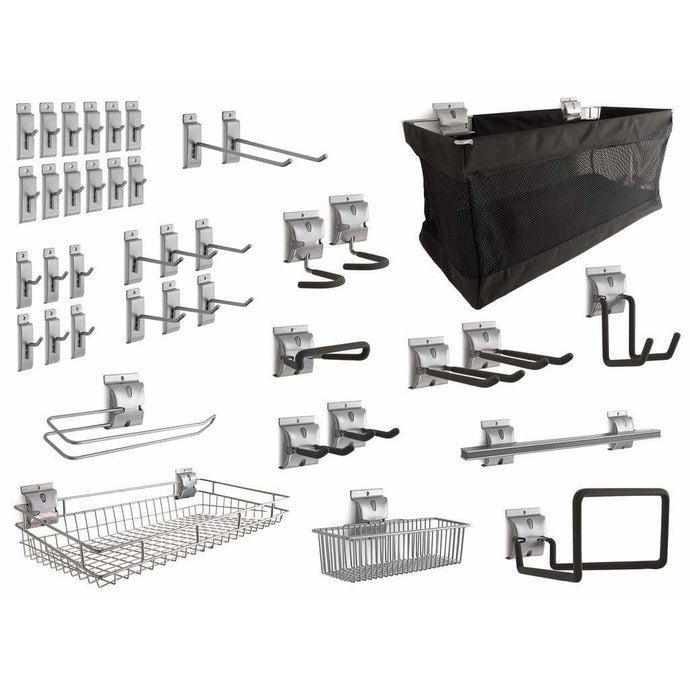 NewAge Products Slatwall NewAge Products 40-PIECE STEEL Slatwall Accessory Kit Slatwall Set 51722 51722