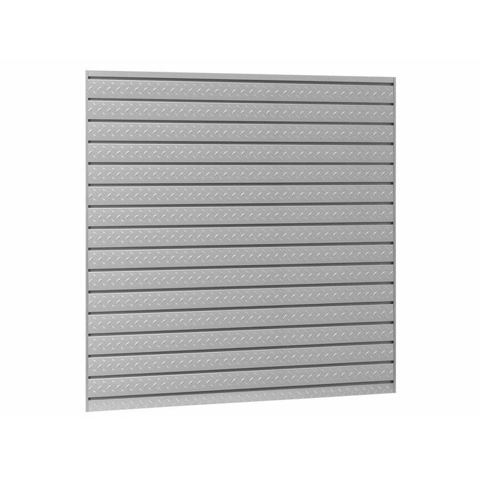 NewAge Products Slatwall NewAge Products PRO SERIES 16 sq. ft. Steel Slatwall Set with 40-Piece Accessory Kit 51800 51800