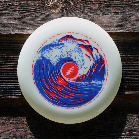 robert hunter frisbee, brokedown frisbee, 175gm ultimate disc