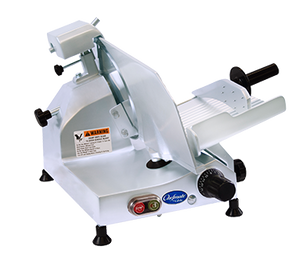 "Globe Chefmate C10 - 10"" Manual Gravity Feed Slicer 1/4 hp"