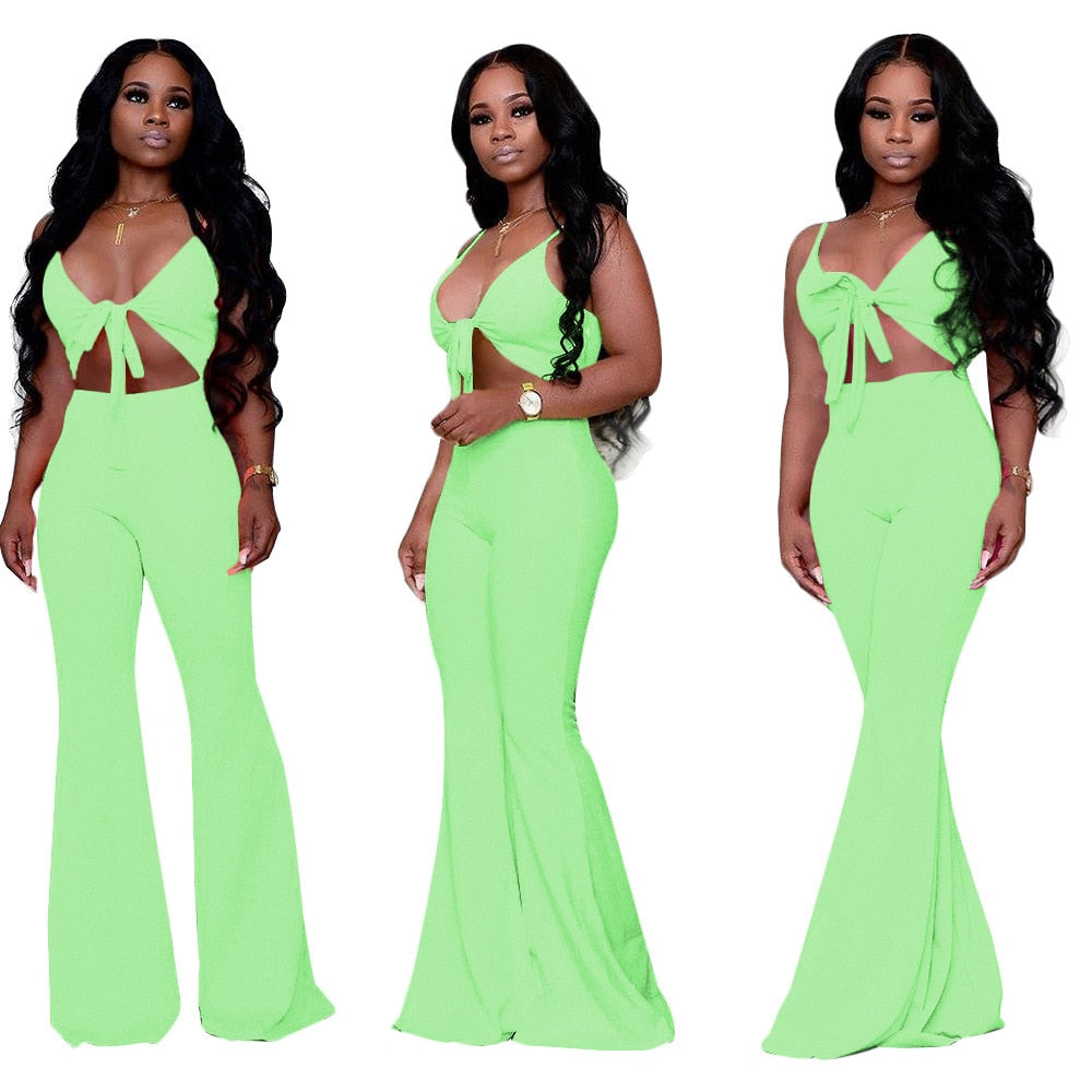 Women's Sexy Deep V Jumpsuit - 29Collections