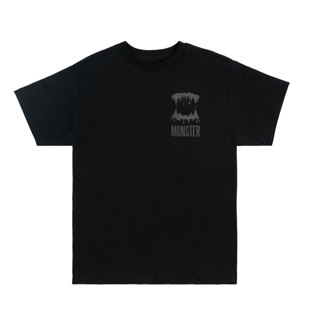 MONSTER TEETH GRIN T-SHIRT (BLACK)