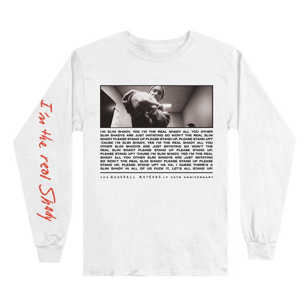 I'M THE REAL SLIM SHADY LONGSLEEVE (WHITE)