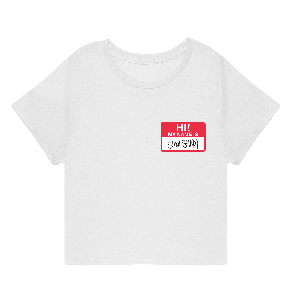 HI! MY NAME IS CROPPED T-SHIRT