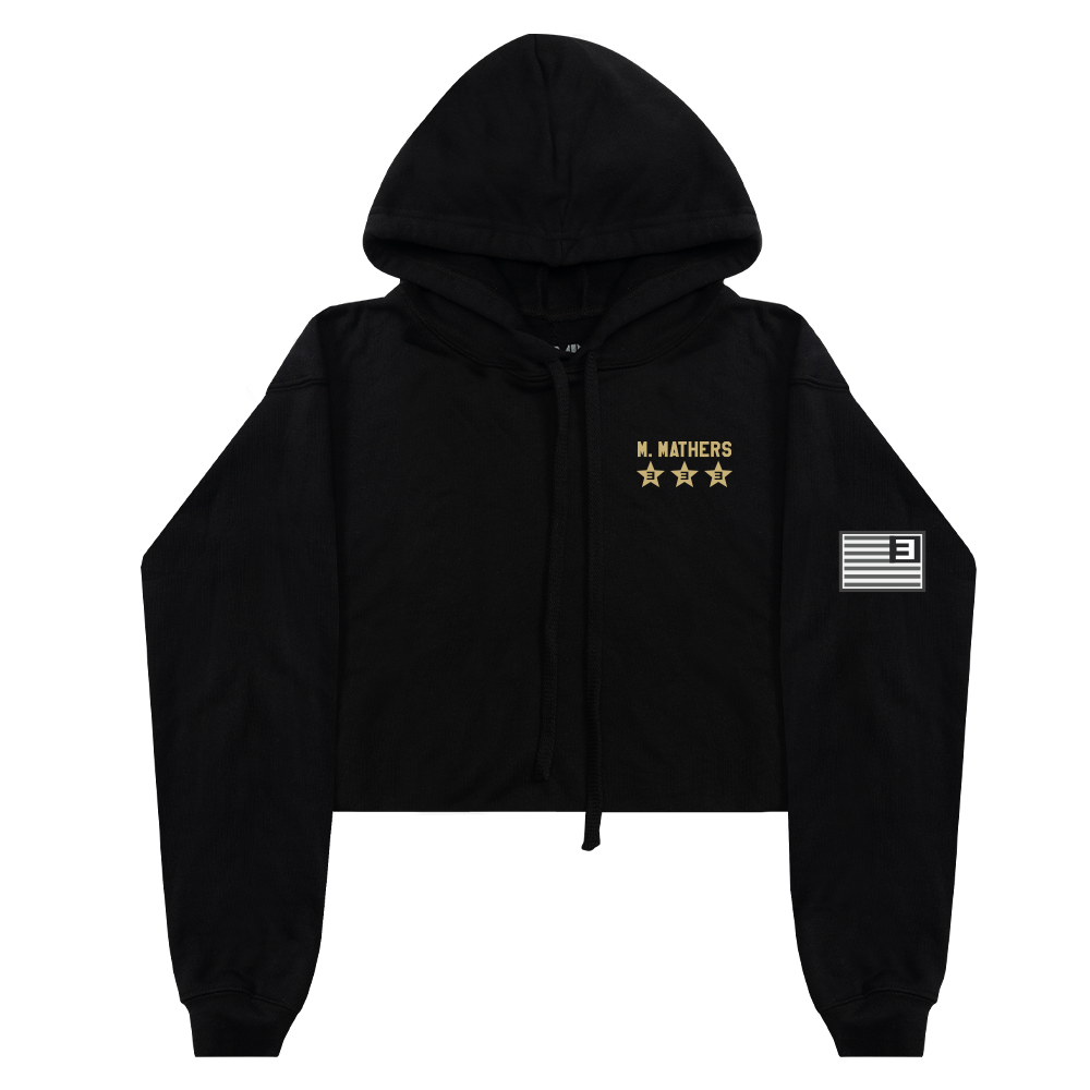 TOP GUNNER PATCH CROPPED HOODIE