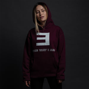 THE WAY I AM HOODIE (MAROON)