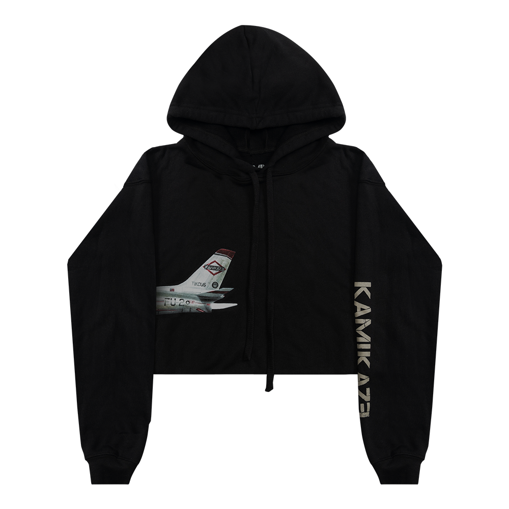 Women's Plane Cropped Hoodie
