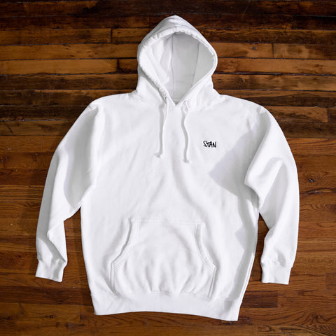 LIMITED EDITION EMBROIDERED STAN HOODIE (WHITE)