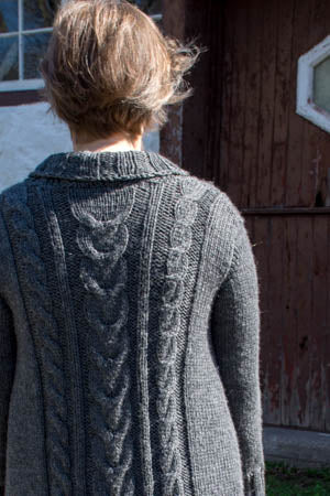 Hand Knit Cabled Cardigan
