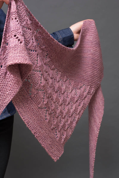 knitted shawl pattern trinagle