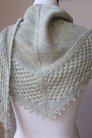 Small knit triangle scarf