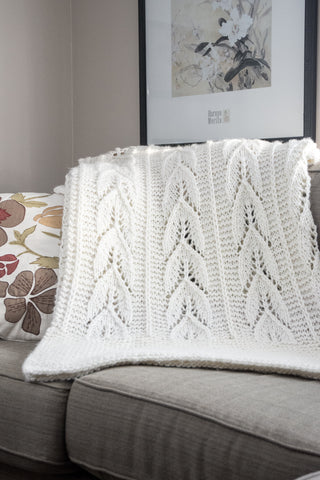chunky knit blanket pattern