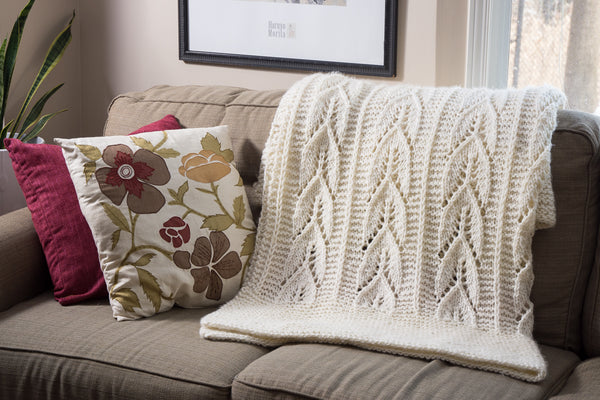 knitted blanket and throws pattern
