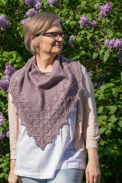 knitted  lace cowl