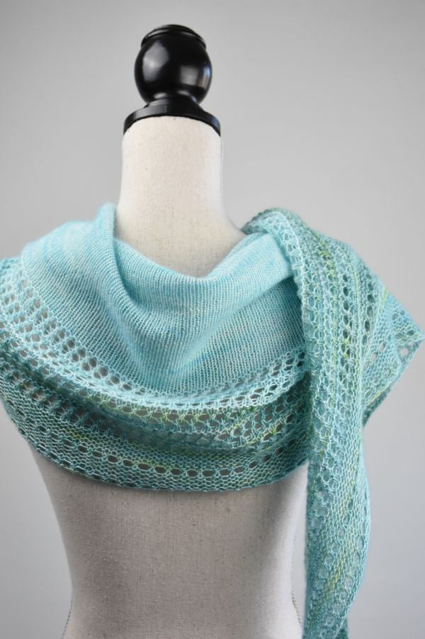 crescent shaped shawl