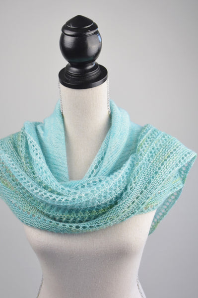 curved shawl knitting pattern