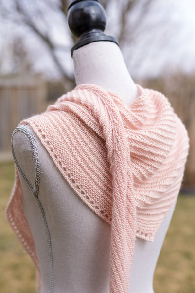 Handknit Sideways Triangle Scarf