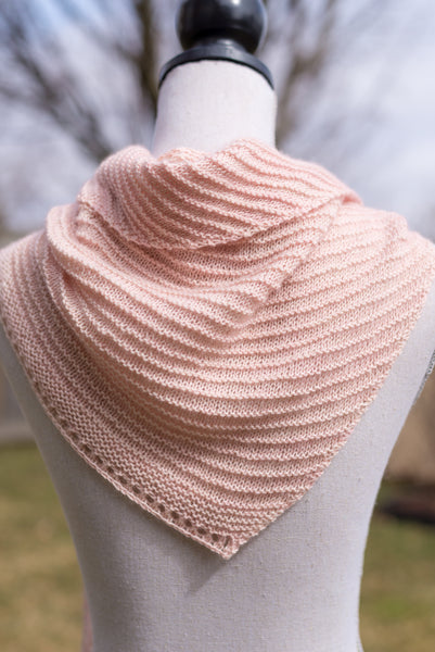 Sideways Triangle Scarf Knitting pattern