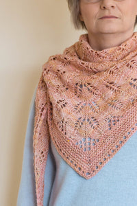 Faded Rose Shawl Pattern