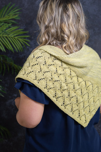 Sideways Trinagle Shawl on Model