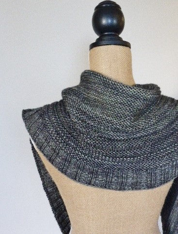 Crescent Shawl on Dressform