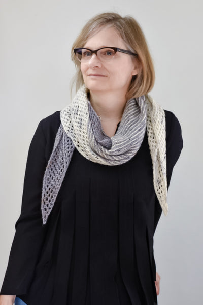 handknit lace scarf knitting pattern