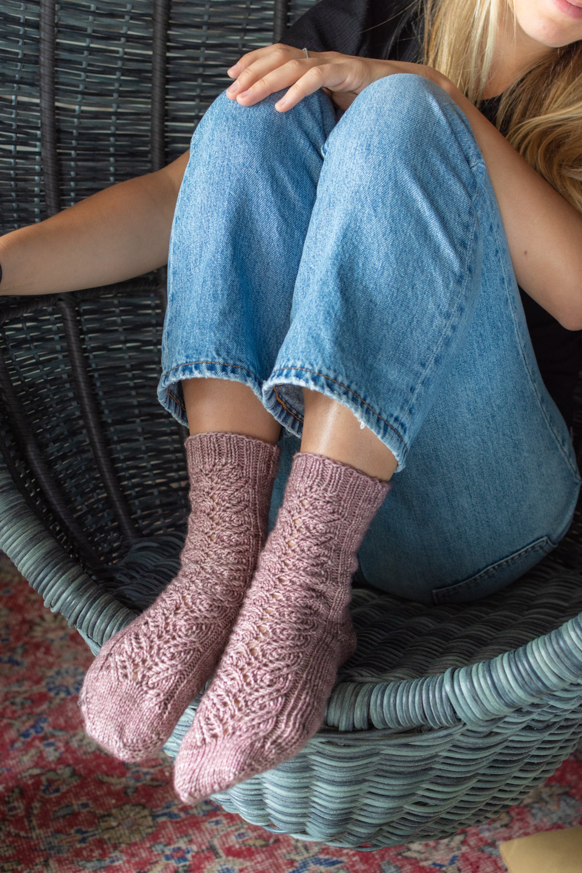 knitted sock pattern