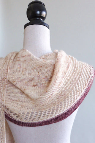 curved shaped shawl