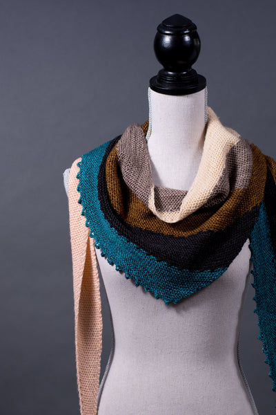 sideways triangle scarf pattern