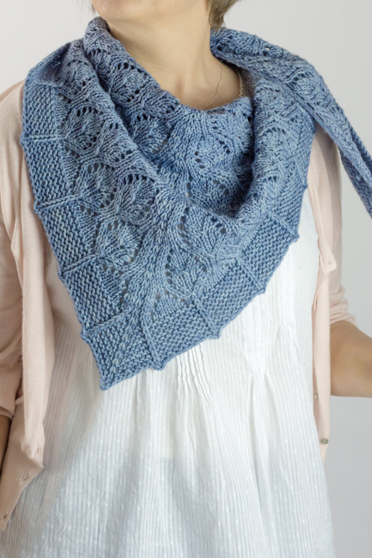lace scraf knitting pattern