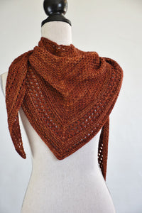 Triangle knitted shawl pattern