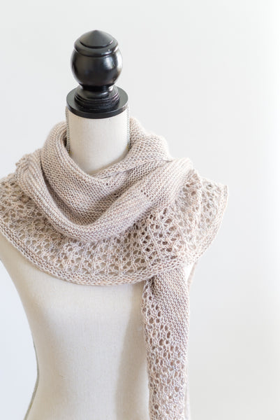 Crescent shawl knitting pattern