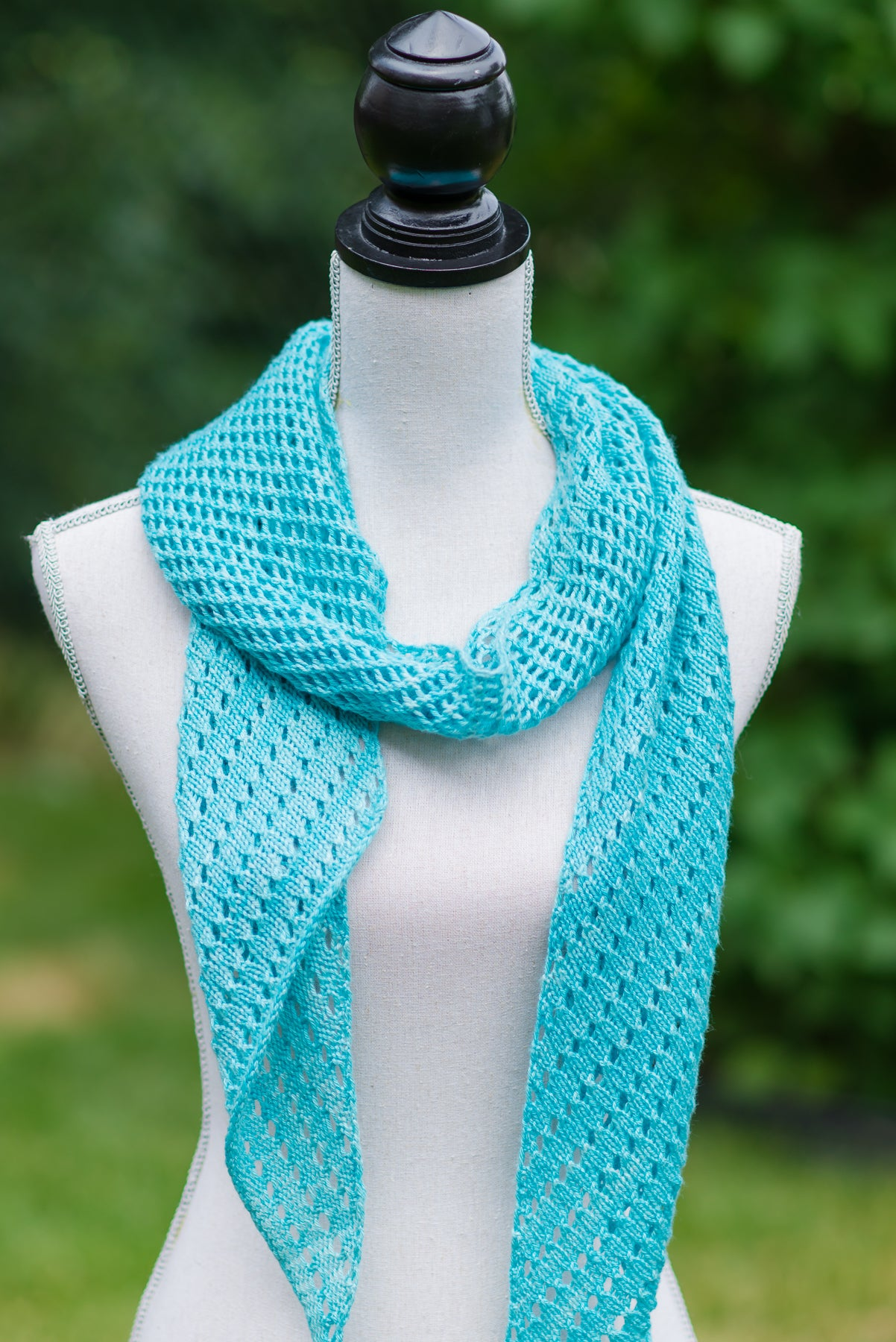 Handknit lace scarf