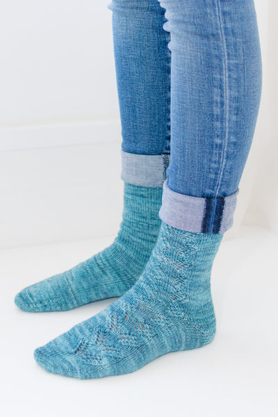 handknit socks from knitting pattern