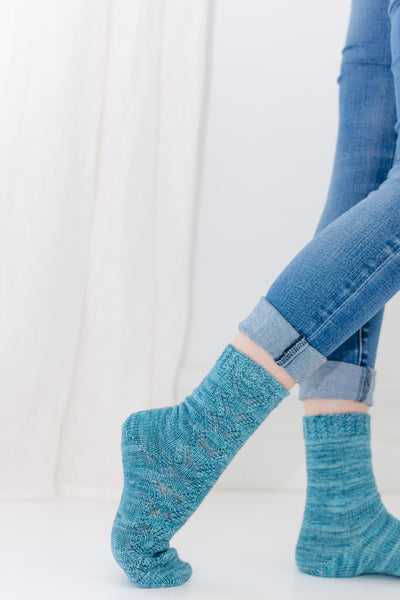 walking in handknit socks