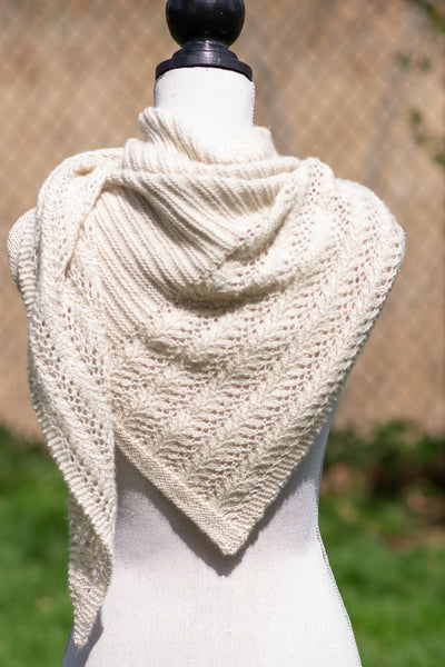 knitting pattern lace shawl