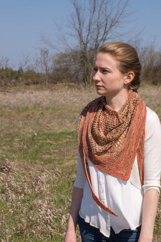 triangle shawl pattern