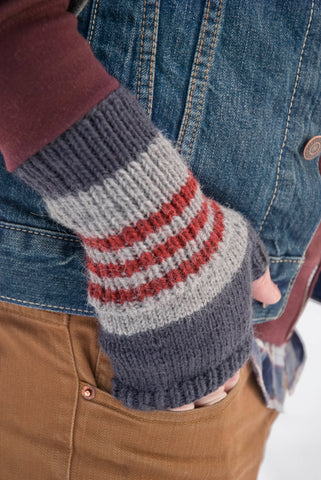 fingerless mitts on male model