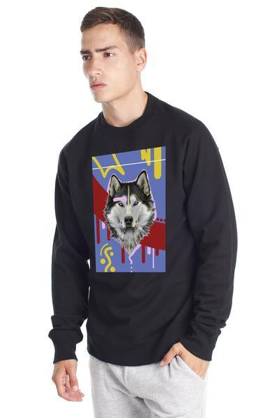 Original Fleece Wolf Sweatshirt - Black