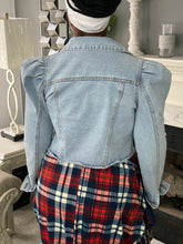 Load image into Gallery viewer, Puff Shoulder Denim Jacket