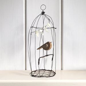 Bird In A Wire Cage - Large