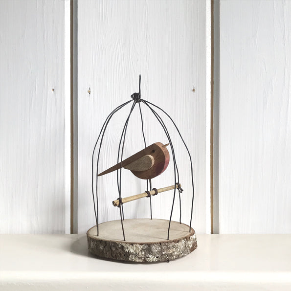 Bird In A Wire Cage - Small