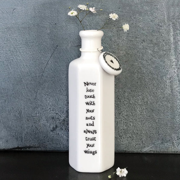 Hexagonal Porcelain Sentiment Bottle