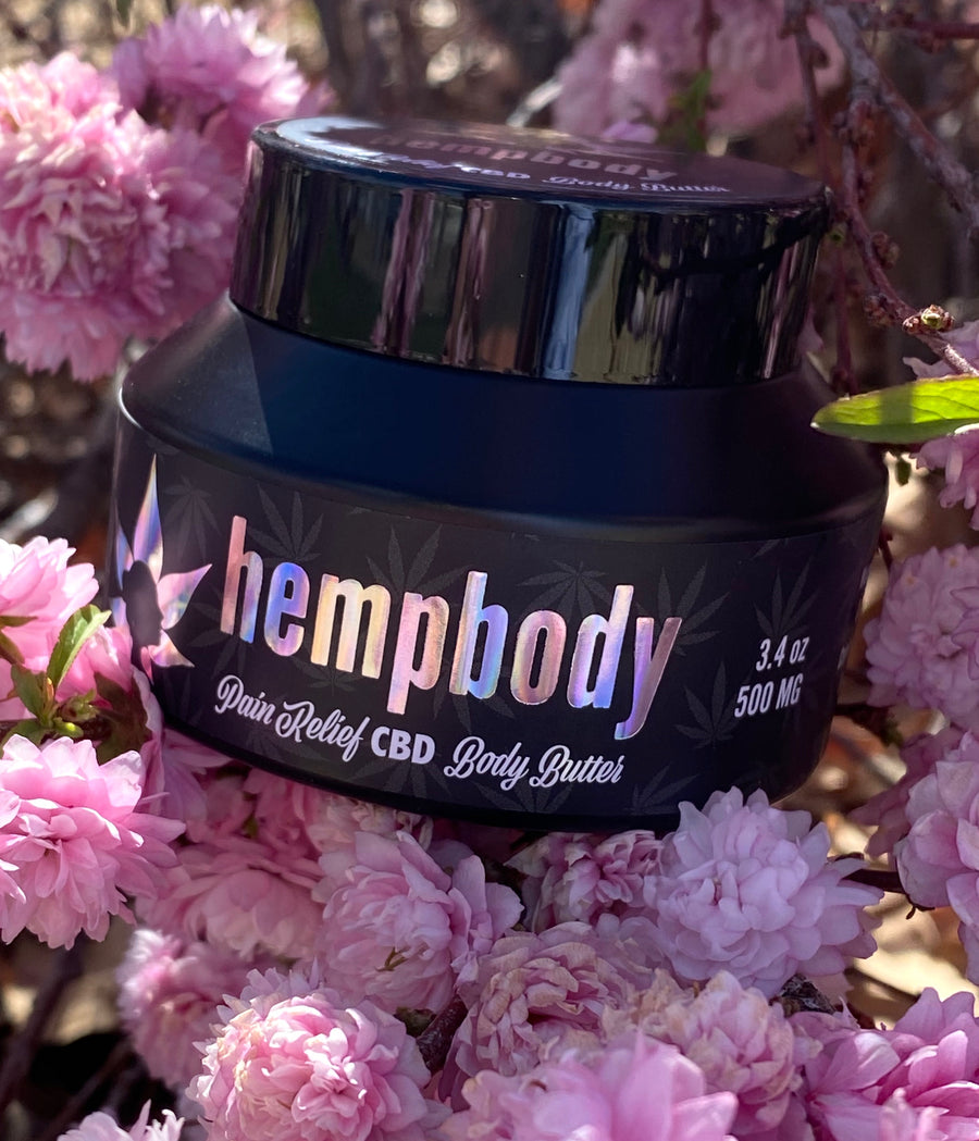 Hempbody pain relief CBD body butter is made with all natural therapeutic ingredients. Scientifically developed to absorb into the skin to ease achy joints & calm overworked and sore muscles.