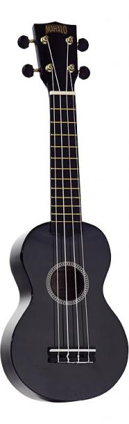 Mahalo Ukulele With Geared Machine Heads Black Outfit Includes a Carry Bag