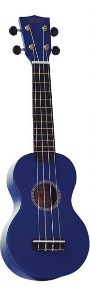 Mahalo Ukulele With Geared Machine Heads Blue Outfit Includes a Carry Bag