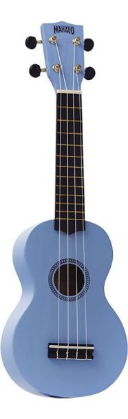 Mahalo Ukulele With Geared Machine Heads Light Blue Outfit Includes a Carry Bag