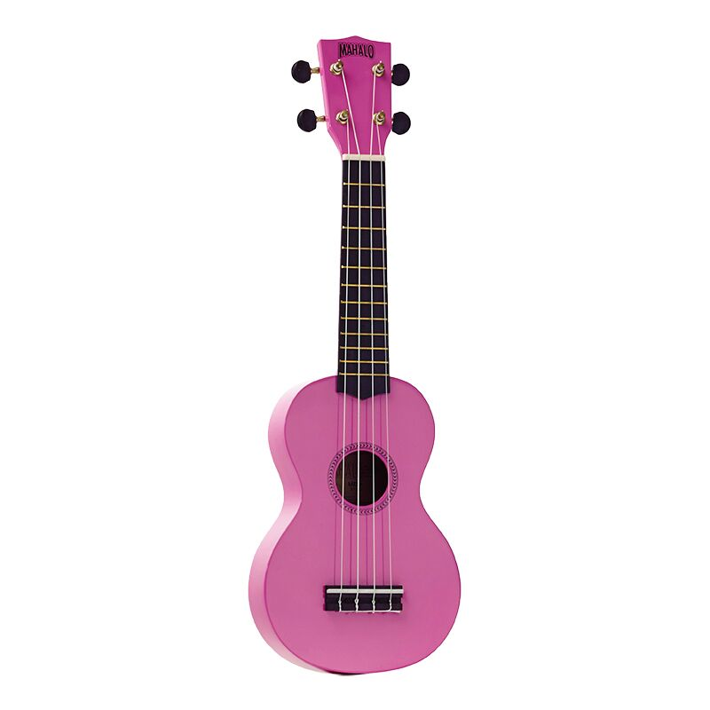 Mahalo Ukulele With Geared Machine Heads Pink Outfit Includes a Carry Bag