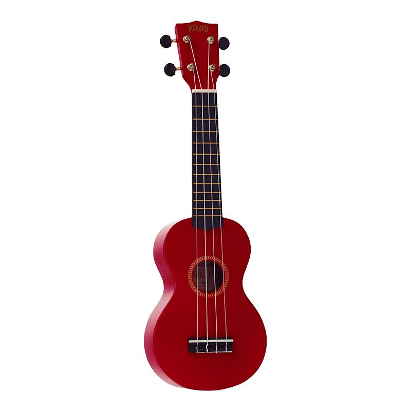 Mahalo Ukulele With Geared Machine Heads Red Outfit Includes a Carry Bag