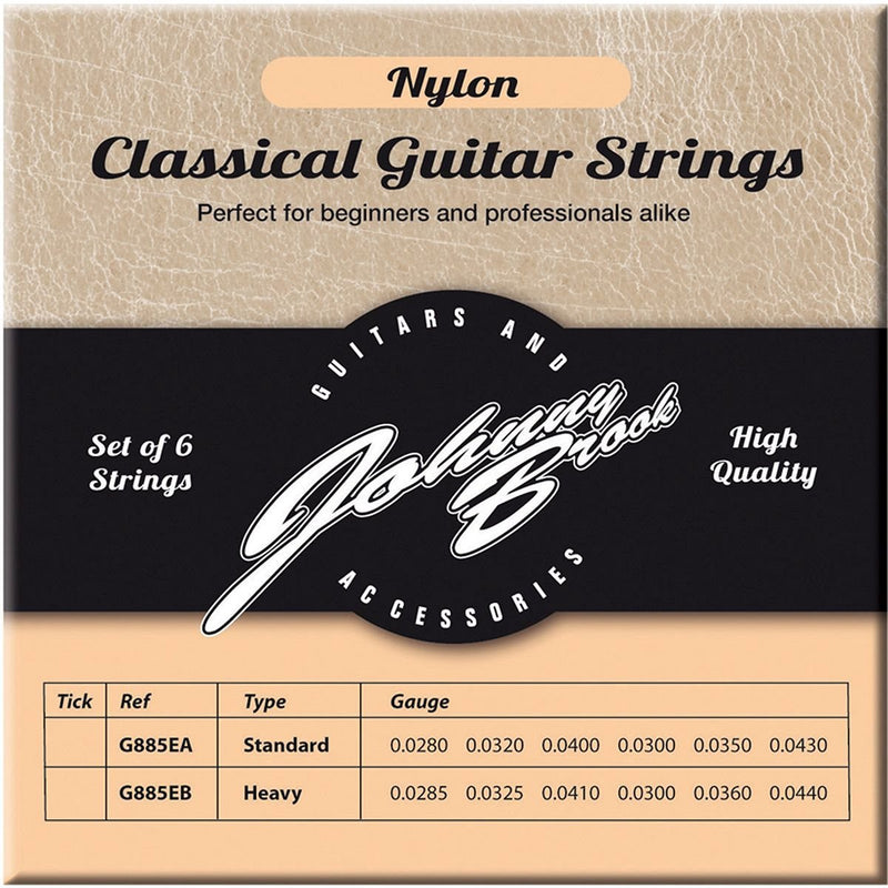 JOHNNY BROOK Nylon Classical Guitar Strings - Standard